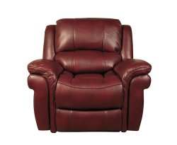 Weydon Burgundy Leather Look Manual Recliner