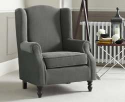 Sorrel Grey Upholstered Fireside Chair