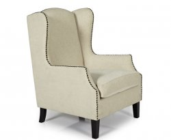 Keir Cream Upholstered Fireside Chair