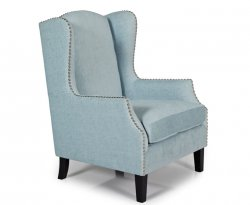 Keir Duck Egg Upholstered Fireside Chair