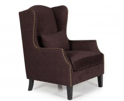 Keir Aubergine Upholstered Fireside Chair