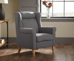 Wilson Grey Upholstered Fireside Chair