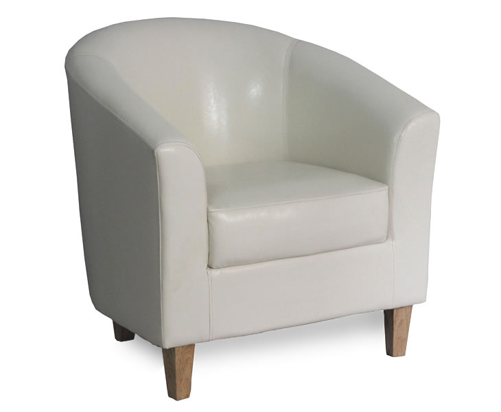 cream leather bucket chair connaught cream faux leather tub chair 13600 | 1798 1