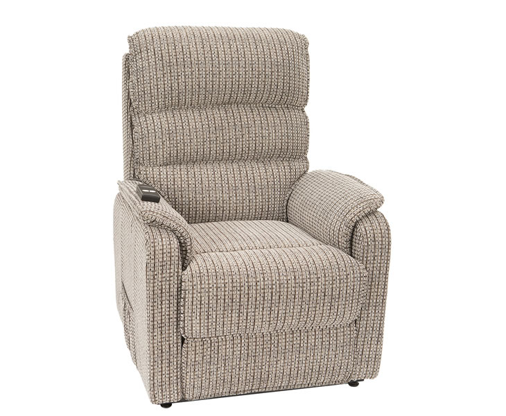 justarmchairs.co.uk Jefferson Latte Fabric Electric Recliner