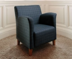 Leven Scottish Plaid Upholstered Occasional Chair