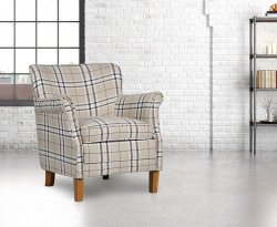 Tuffley Cream Check Occasional Chair