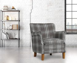 Tuffley Grey Check Occasional Chair
