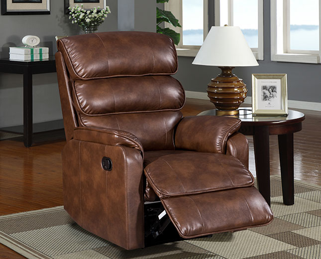 justarmchairs.co.uk Camballin Bronze Brown Faux Leather Recliner Chair