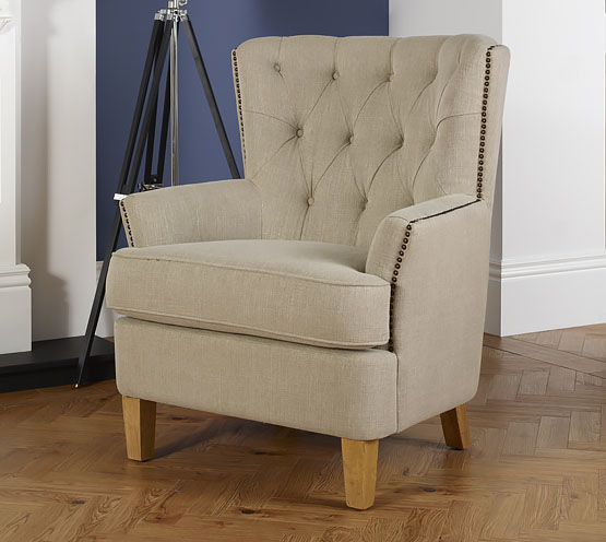 Armchairs Selkirk Mink Upholstered Occasional Armchair