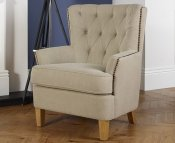 Selkirk Mink Upholstered Occasional Armchair