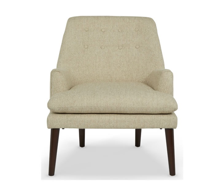 justarmchairs.co.uk Wallace Mink Fabric Occasional Armchair