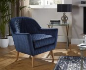 Almada Blue Fabric Occasional Chair