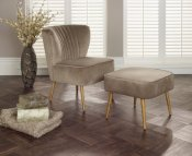 Prestwick Fabric Occasional Armchair with Footstool