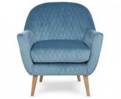 Almada Cyan Fabric Occasional Chair