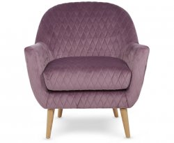 Almada Lavender Fabric Occasional Chair