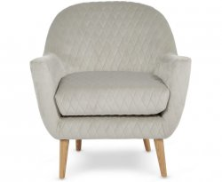 Almada Silver Fabric Occasional Chair