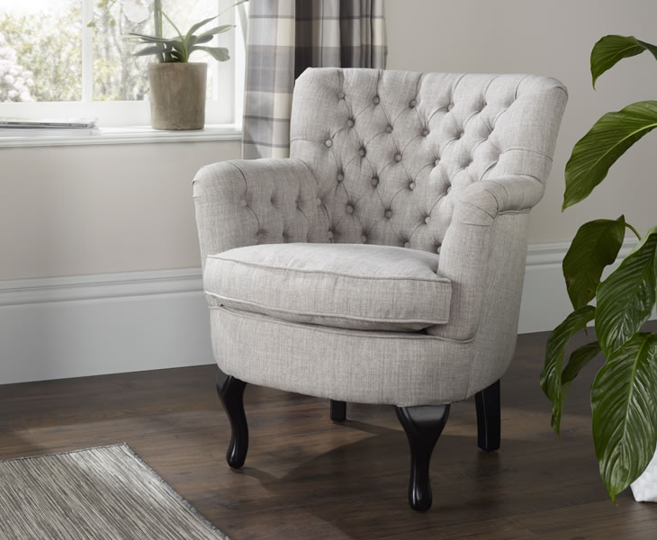 justarmchairs.co.uk Irvine Grey Fabric Occasional Armchair