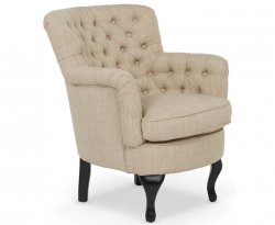 Irvine Mink Fabric Occasional Armchair