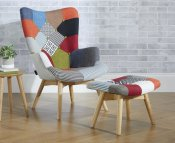 Sloane Upholstered Accent Chair & Stool