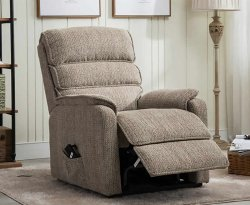 Alicante Mocha Fabric Rise and Recline Chair