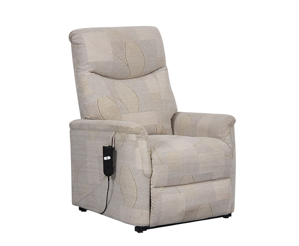 justarmchairs.co.uk Baltimore Beige Fabric Rise and Recline Chair