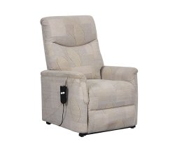Baltimore Beige Fabric Rise and Recline Chair