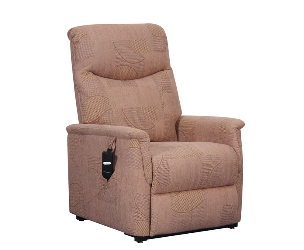 justarmchairs.co.uk Baltimore Mink Fabric Rise and Recline Chair