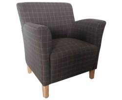Leven Peat Scottish Plaid Upholstered Occasional Chair *Special Offer*