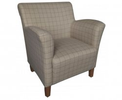 Leven Sand Scottish Plaid Upholstered Occasional Chair *Special Offer*