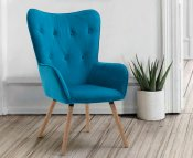 Willemstad Velvet Occasional Accent Chair