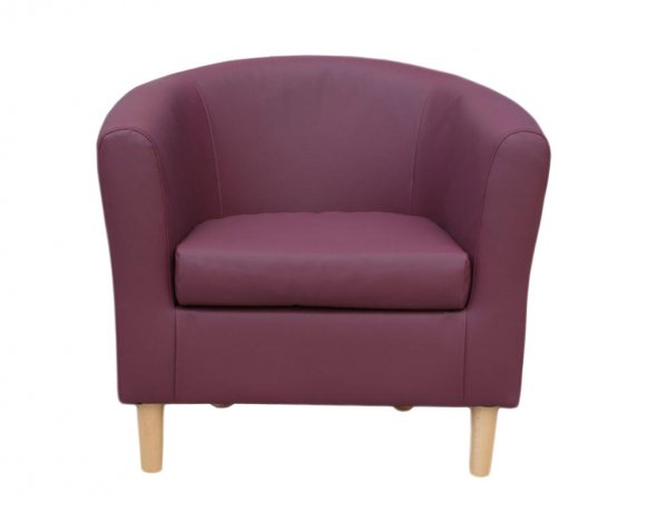justarmchairs.co.uk Hamlet Plum Faux Leather Tub Chair *Special Offer*