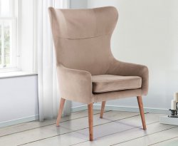 Bow Upholstered Fireside Chair