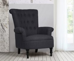 Edinburgh Steel Upholstered Fireside Chair