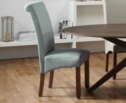 Barnstable Plain Fabric and Walnut Dining Chair