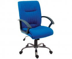 Ocean Blue Fabric Office Chair