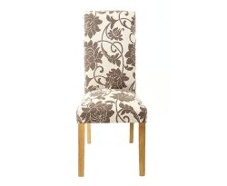 Homespun Upholstered Floral Dining Chair