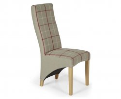 Missouri Tartan and Oak Dining Chair
