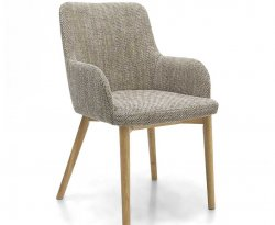 Eastwood Natural Tweed Dining Chairs - Set of 2
