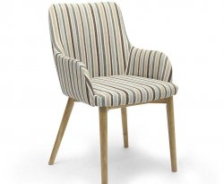 Eastwood Duck Egg Blue Striped Dining Chairs - Set of 2