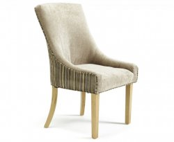 Onslow Mink and Sand Striped Fabric Bedroom Chair *Special Offer*