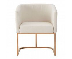 Fuchu Ivory Linen Dining Chair