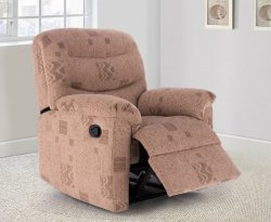 Melbourne Wheat Fabric Leather Manual Recliner
