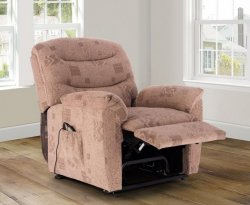 Melbourne Wheat Fabric Rise & Recline Chair
