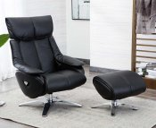 Pirouette Leather Swivel Chair and Stool