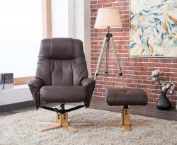 Dali Upholstered Swivel Chair and Stool