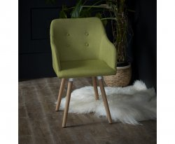 Ditsy Green Accent Chair