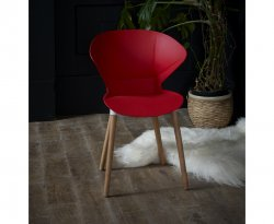 Retro Red Dining Chair
