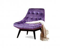 Karl Purple Accent Chair