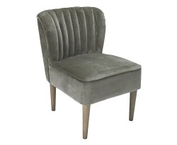 Bella Steel Grey Velvet Bedroom Chair