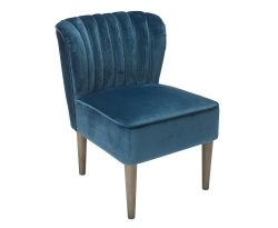 Bella Midnight Blue Velvet Bedroom Chair
